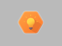 Light bulb badge