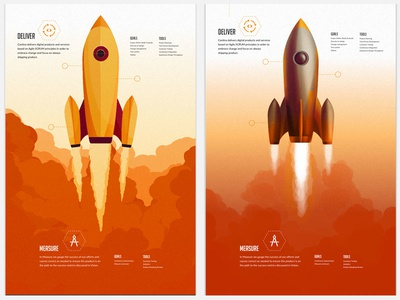 Choosing between your children rocket spaceship space web design illustrator photoshop