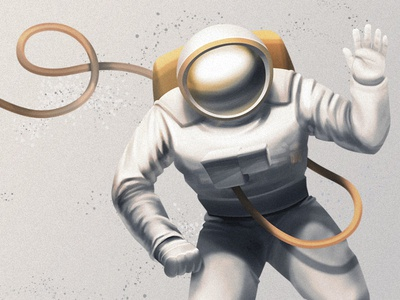 Spaceman photoshop illustration space space man astronaut