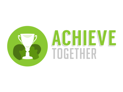 Achieve Together people logo sketch icons