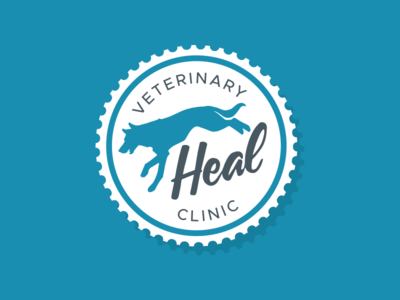 Heal Veterinary Clinic - Dog Brand dog lettering branding brand seal inspiration logos logo design