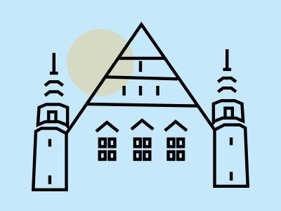 Polish Language line arhitecture symbol icon ui poland