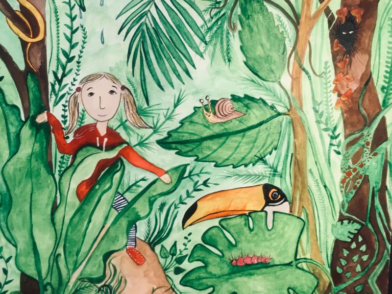 Illustration for a kid's book book kid illustration adventures