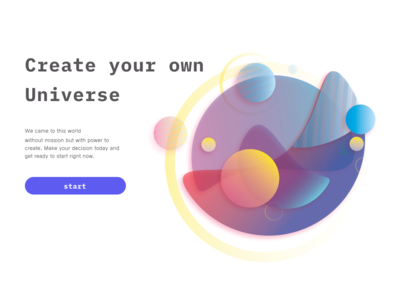 Universe vector abstract illustration illustration illustrator portfolio