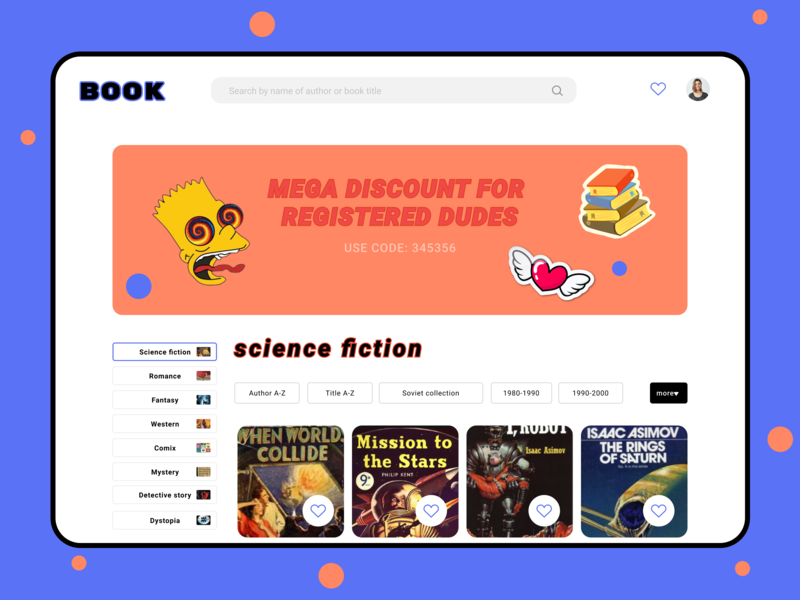 Book Store for dudes) funny categories uiuxdesign ux ia book bookshop fun