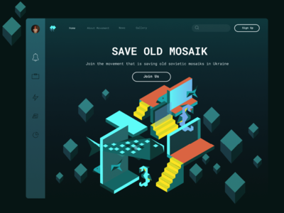 Movement for saving old mosaics ux uiux website webdesign web movement