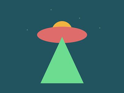 Minimalist UFO flying object minimalism minimalist ovni ufo illustrator art vetorial vector illustration