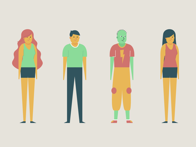 Flat Characters skeeter person character design illustration flat personal personagem characters