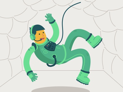In Training Astronaut character design astronaut space training flat illustration character flat design flat illustration