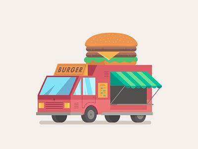 2D City Assets food tacos burguer car truck city foodtruck flat design illustration 2d