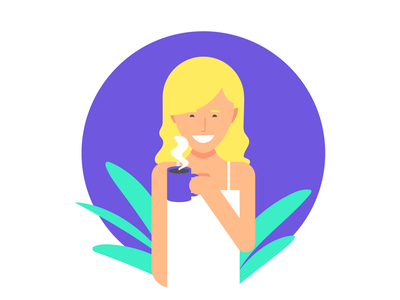 Coffee Blonde personal persona love plants female blonde characterdesign girl character cafe coffee women woman