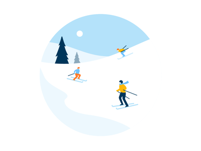 January slope winter skiing ski january product illustration vector illustration