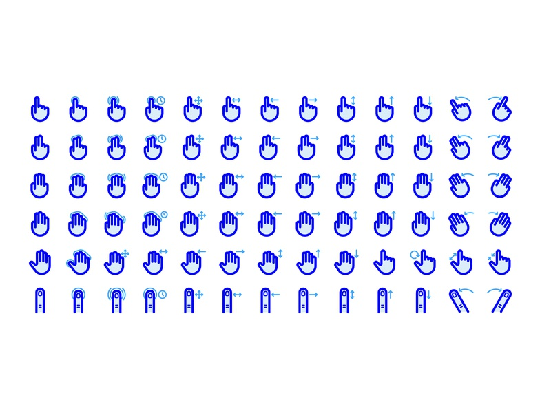 48px Gesture & Touch Line Icons by Jordan Stephensen on Dribbble