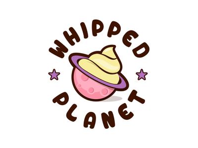 Whipped Planet _Logo Design planet design logo bakery yoghurt cream whipped