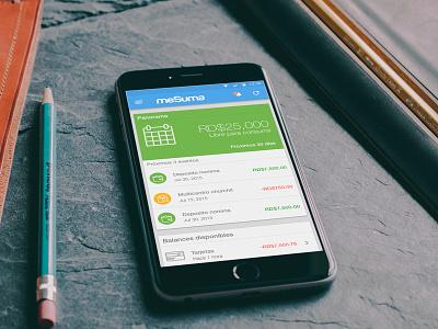 Financial mobile app cards money user interface app design flatdesign ios android financial ux ui