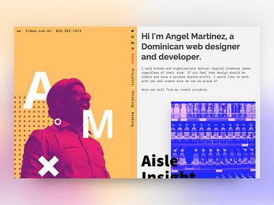 V2.0 Portfolio Redesign monotype website web ui redesign portfolio minimal index designer blog
