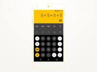 #DailyUI challenge #004 - Calculator