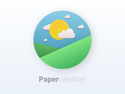 #DailyUI challenge #005 - App Icon phone android materialdesign app weather appicon icon paper dailyui