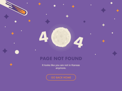 #DailyUI challenge #008 — 404 page space interface web ux ui website error dailyui flat 404
