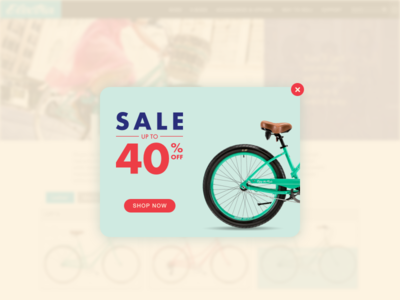 #DailyUI challenge #016 — Pop-Up / Overlay futura ad pop-up website overlay ux ui bike clean minimal flatdesign dailyui