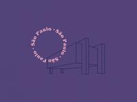 Um marco de São Paulo - Masp city masp daily 100 sao paulo vector design illustration desenhar dailyui dribbble