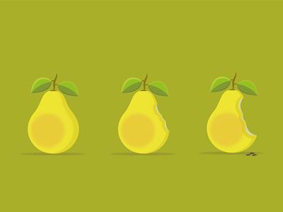 Pera Gaussiana natural green fruity fruit ilustrator pera photoshop desenhar vector ilustração dribbble illustration design