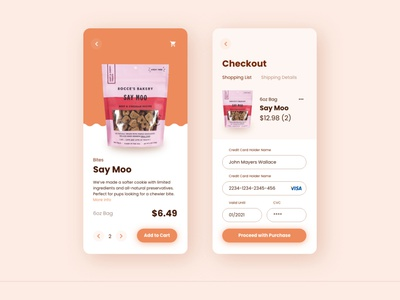 Daily UI Challenge | 002 checkout ui checkout dog app dog food dogs ux design user experience interaction design ui design ux ui