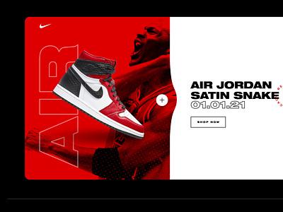 UI Daily Challenge landing page shoes nike michael jordan interaction design user experience user interface ui