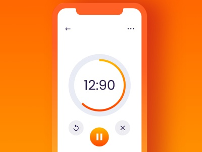 UI Challenge - Day 14 | Countdown Timer iphonex modern usability user centered design ui interaction design userinterface user experience ux