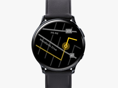 UI Challenge - Day 29 | Map smart watch mobile interaction ui challenge ui design challenge userinterface user experience ux uiux ui