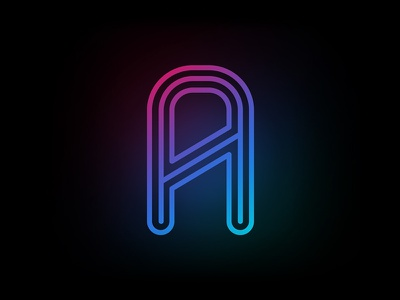 Strato colorful light futuristic lines strato alphabet font