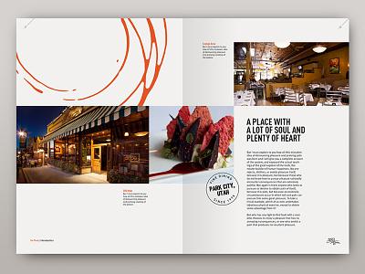 350 Main expressive minimal clean restaurant editorial