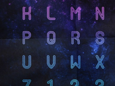 Strato typography strato space colors font alphabet