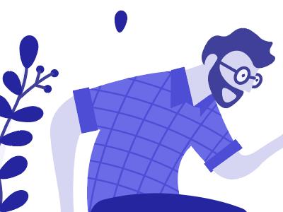 Illustration Experiment vector character graphic design flat blue illustration
