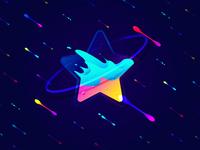 Star illustration star contrast