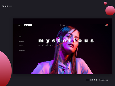 web design_black web vision ui shop design color