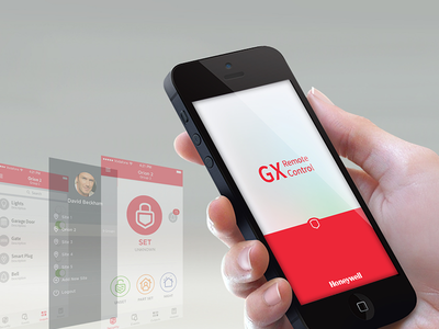 Galaxy, GX Remote Control home automation apps ios home security interaction design mobile ux ix ui