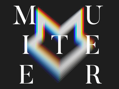 Glitch Visual of the Muiteer Logo glitch digital brand visual logo
