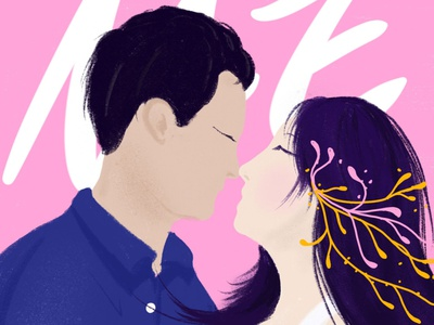 挚爱一生 携手终老 lovers design illustration
