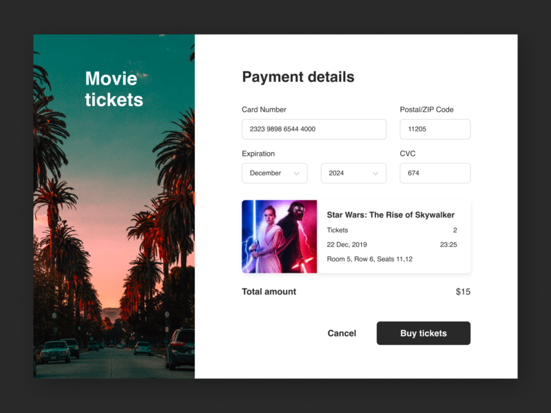 Credit Card Checkout sketch uidesign uxdesign movietickets webdesign movie ticket creditcard credit card checkout web dailyuichallenge daily ui dailyui