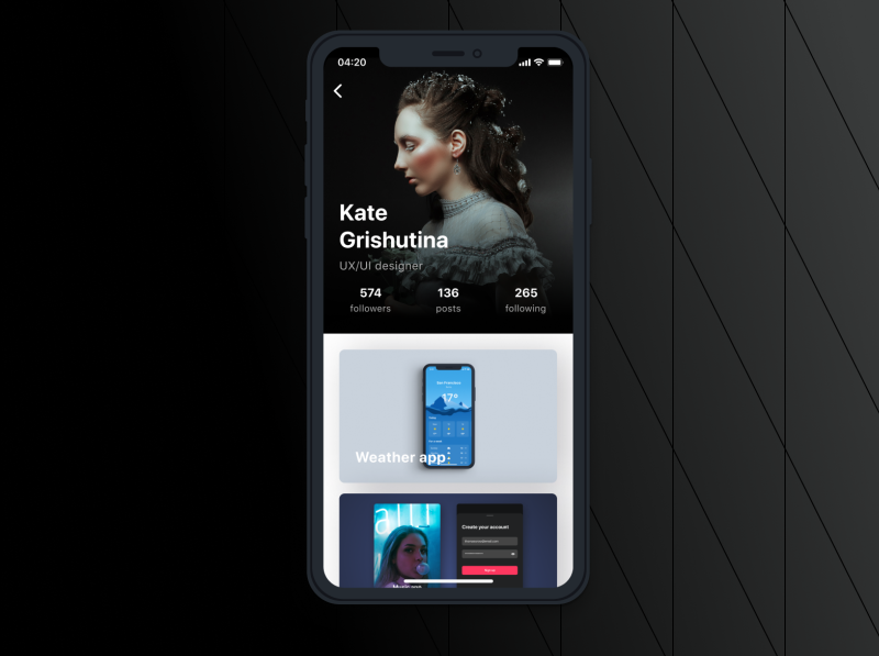 User Profile uxdesign figma iosapp profile uidesign mobiledesign app userprofile ios mobile dailyui dailyuichallenge daily ui