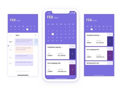 To Do List to do list purple calendar ui