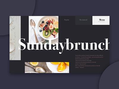 Brunch web design food ui web brunch