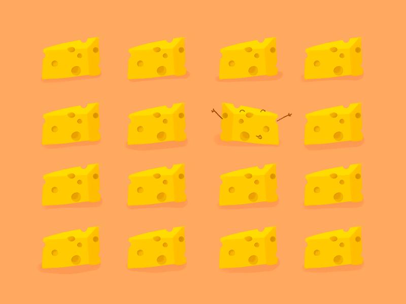 Cheese a card flat