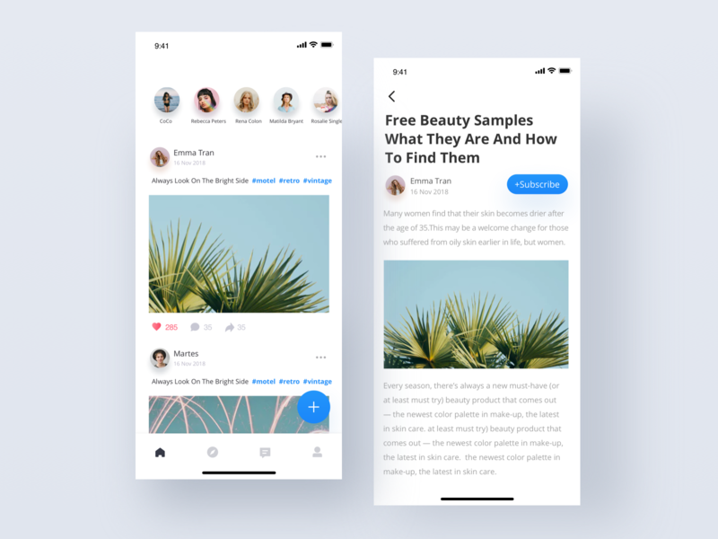 Picture social interaction | Daily UI app ux sketch ui