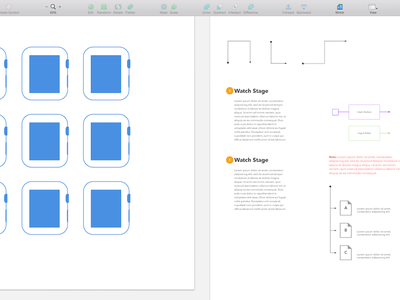 Apple Watch UI Template [Progress] sketch ui apple watch sketchapp wireframe prototype freebie