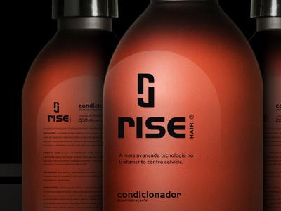 Branding RISE HAIR rise hair packing campinas lepa leandro brazil branding desing