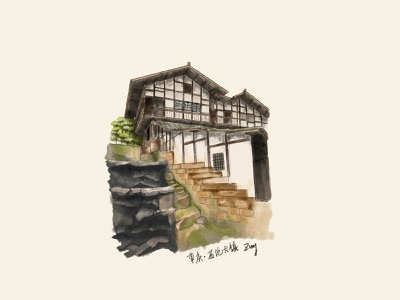Chongqing sketch architecture scenery sketch chognqing