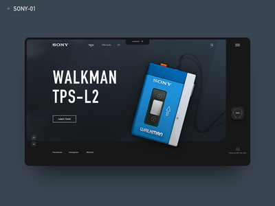 Sony Walkman 1 icon typography walkman sony design web illustration