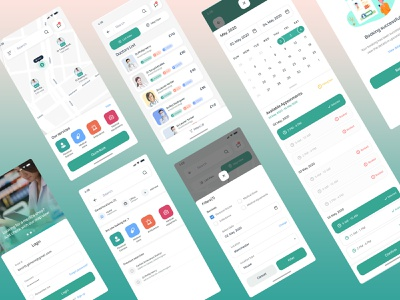An Online Health care app for booking health care services healthcare health app doctor application mobile app mockup mobile app online health care doctor booking health care health
